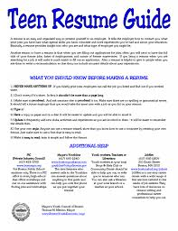 What To Have On Your Resume Stylist Inspiration Resumes For Teens 2 5 Resume Teens Sample