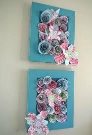 Flower Wall Decor How To Make Simple 3 D Flower Wall Art Hometalk