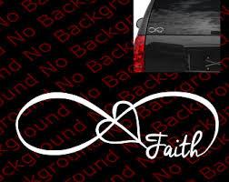 infinity faith decal etsy