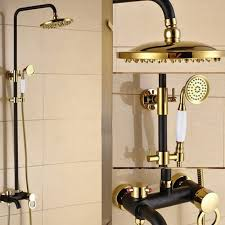 Bronze Bathtub Faucet Holder Dual Control Gold Black Oil Rubbed Bronze Bathtub Shower