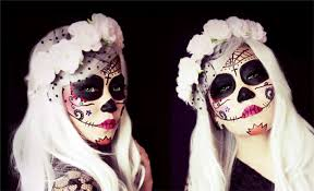 7without any white base most sugar skull makeup