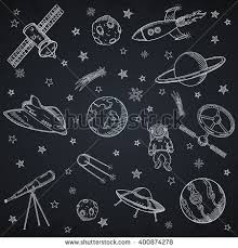 space background colored repeating icons sketch stock vector