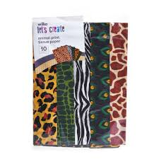 cheetah print tissue paper wilko animal print tissue paper 10pk at wilko