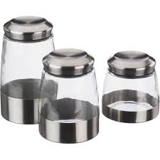 glass kitchen storage canisters kitchen diamond 3 piece canister set with diamond 3 piece
