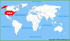 map of the usa usa united states location on the world map inside of canada in