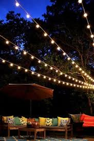 Backyard String Lighting Ideas How To Hang Outdoor Globe String Lights Good Details On Fasteners