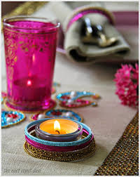 jazz up an ikea votive holder with bangles diwali decor indian