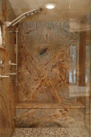 how i would looooove to have a granite slab shower no grout
