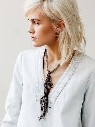 leather necklace women images Lyst free people labradorite and leather necklace in brown jpeg