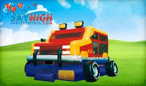 Moonwalks Houston Monster Truck Bounce House Moonwalk Houston Sky High Party Rentals