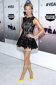 brooklyn decker black lace party dress spike tv u0027s u00272011 video game