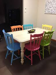 Painted Dining Room Sets Best 25 Coloured Dining Chairs Ideas Only On Pinterest
