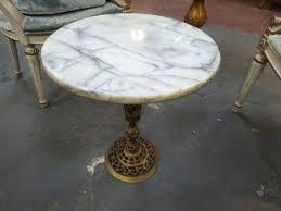 vintage pedestal side table small marble table vintage antique top round pedestal side drinks