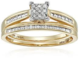 square set rings images 10k yellow gold diamond square center bridal ring set 1 7 cttw jpg