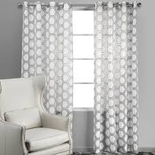 White Patterned Curtains Enchanting Grey Patterned Curtains And Gray And White Patterned