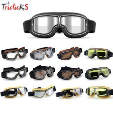colorful lenses classic scooter motocross triclicks motorcross retro aviator pilot goggles motorcycle bike