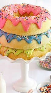 easy donut cake donut and pajama birthday party sweets