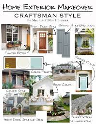 design plans for a craftsman style home exterior makeover