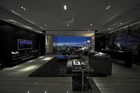 steve home interior lit moody modern living slate in slate steve leung interior