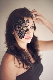 halloween mask masquerade mask black lace mask mardi