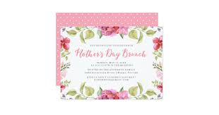s day brunch invitation sweet blossoms s day brunch invitation zazzle
