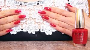 polishing my natural nails with new o p i