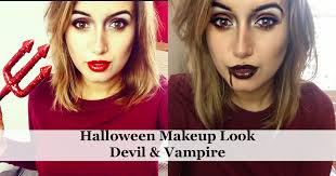halloween makeup look vampire u0026 devil a little obsessed