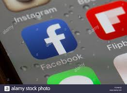 facebook icon facebook app icon on an iphone 6 screen stock photo royalty free