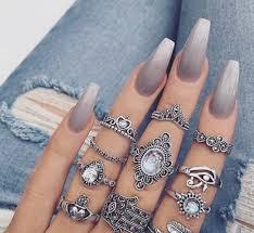 ombre nail design tumblr follow me for more girlnextdoor nails pinterest gray nails