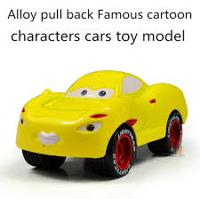 cars characters yellow classic toys alloy sound and light pull back famous cartoon