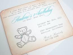 teddy bear invitations afoodaffair me