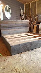 Wooden Framed Beds The Grey Weathered Reclaimed Wood Bed Frame Wood Beds