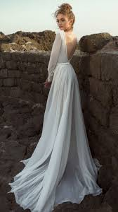 plain wedding dresses picture of chic plain wedding dress with a fully cutout back