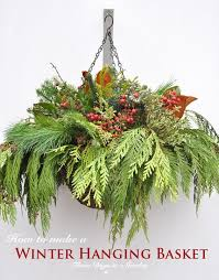 Outdoor Hanging Christmas Decorations Best 25 Winter Hanging Baskets Ideas On Pinterest Hanging