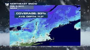 United States Snow Cover Map by Lake Effect Snow Buries Upstate New York Town Weathernation
