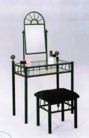 Black Vanity Table With Mirror Mirrored Vanity Table Set Foter