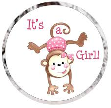 baby shower monkey baby shower candy favor labels monkey girl or boy ships