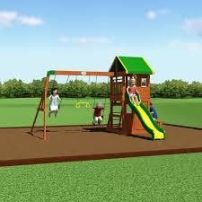 oakmont wooden swing set playsets backyard discovery
