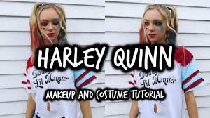 harley quinn inspired makeup and halloween costume tutorial youtube