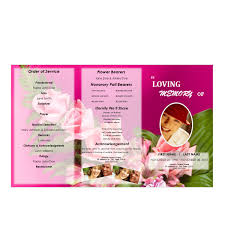 downloadable funeral program templates floral 6 tri fold brochure program funeral phlets
