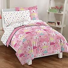 Solid Pink Comforter Twin Amazon Com Dream Factory Magical Princess Ultra Soft Microfiber