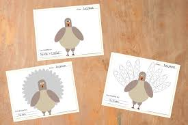 this turkey placemat printable is a great thanksgiving craft