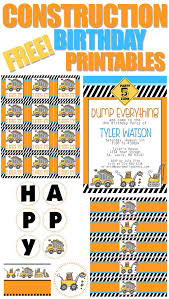 construction birthday party construction themed birthday party with free printables how to