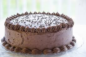 chocolate birthday cake with vanilla frosting recipe image