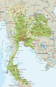 map of thailand visit thailand info road map of thailand map