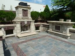 Paver Ideas For Backyard Decor Unusual Unilock Fireplaces With Patio Pavers Side Green