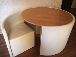 table with hidden chairs