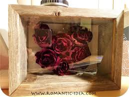 dried roses dried heart 3d craft in shadow box frame handmade