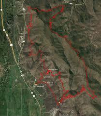 Uvu Map Coyote Canyon Loop Bike Trail Near Heber Utah
