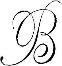 monogram letter t clipart script letter t